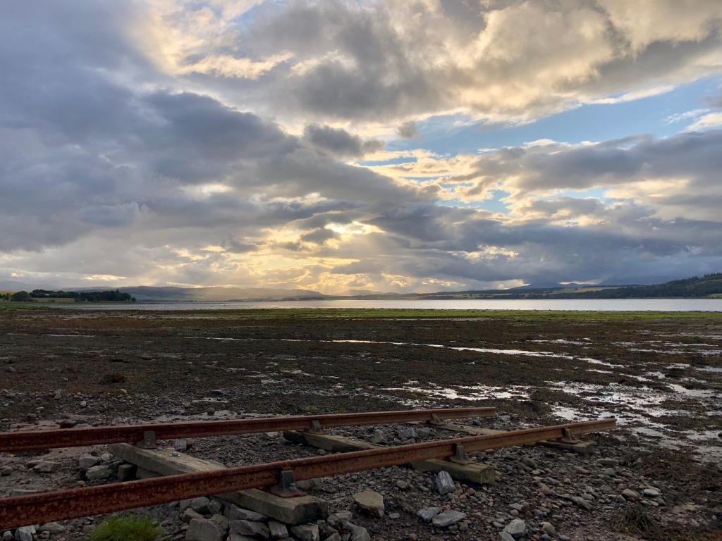 The view from Bunchrew Caravan Park